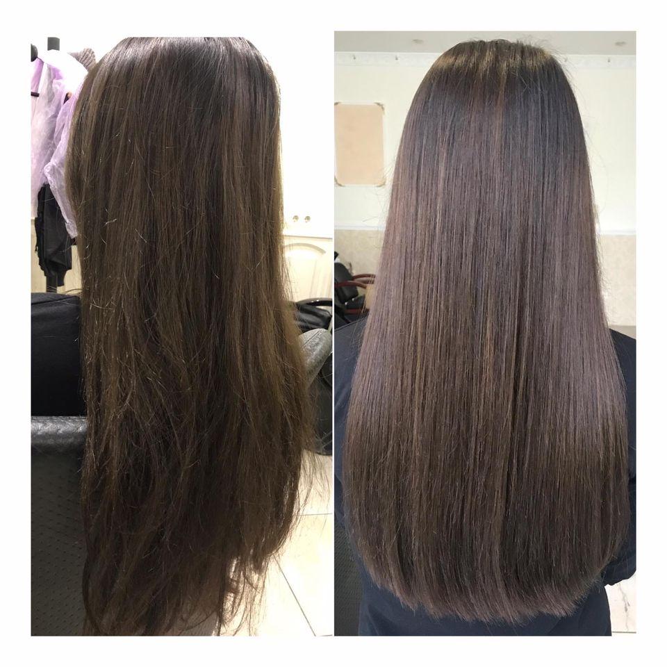 Полировка посеченных кончиков волос